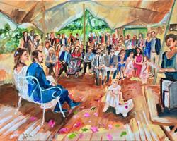 Live Paint Eva Maria kunstwerk trouwceremonie Molenhoek