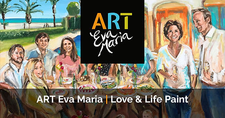 Familie portret schilderij van gezin ART Eva Maria