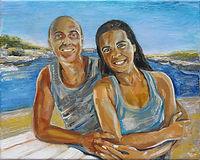 Persoonlijk kunst door ART Eva Maria, portret van man en vrouw