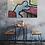 Interieur impressie schilderij Just a moment door Eva van den Hamsvoort