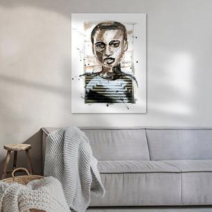Kunst in woonkamer getiteld De Geliefde