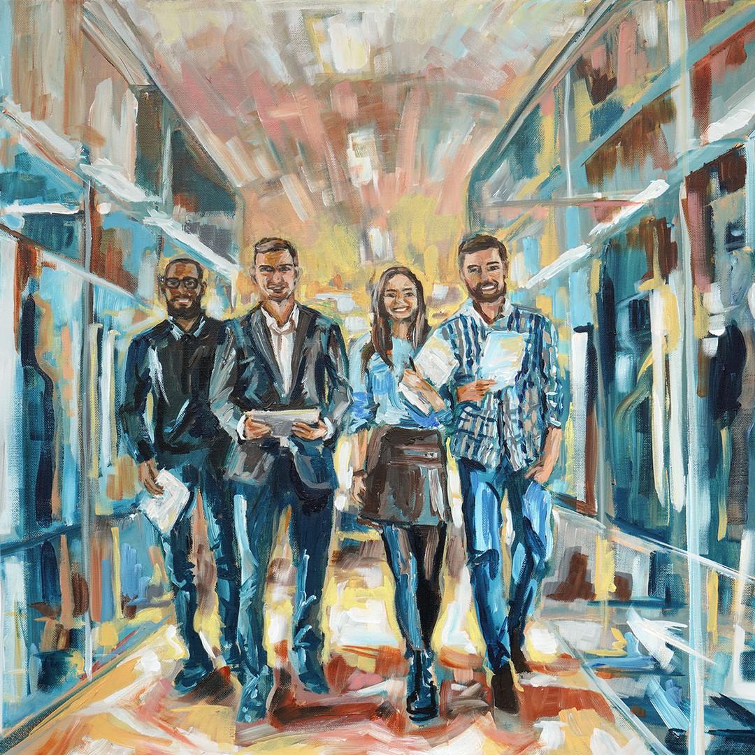 Persoonlijke kunst ART Eva Maria Business Art Kunst voor bedrijven