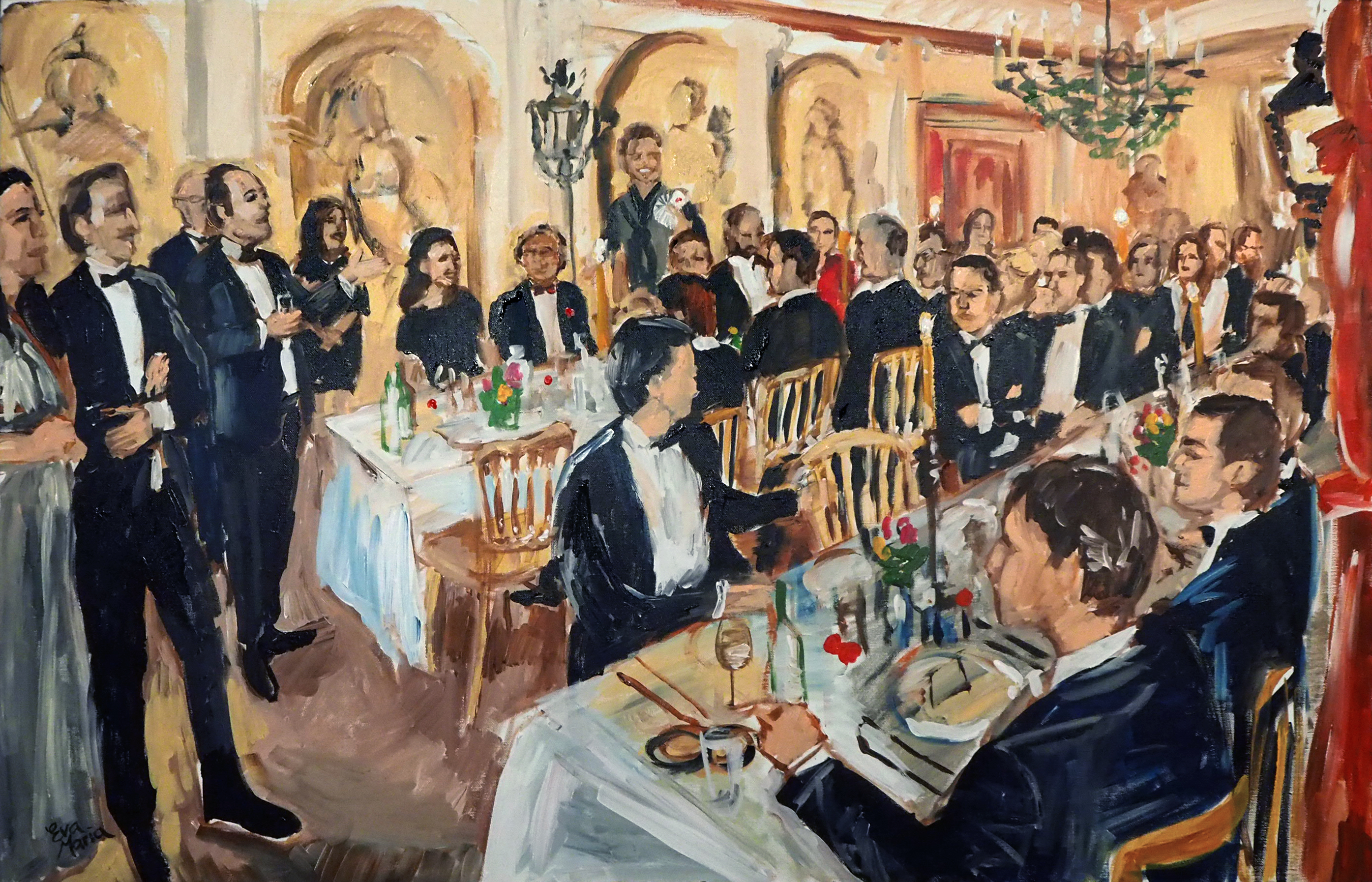 Live Paint Eva Maria diner AMC Baambrugge