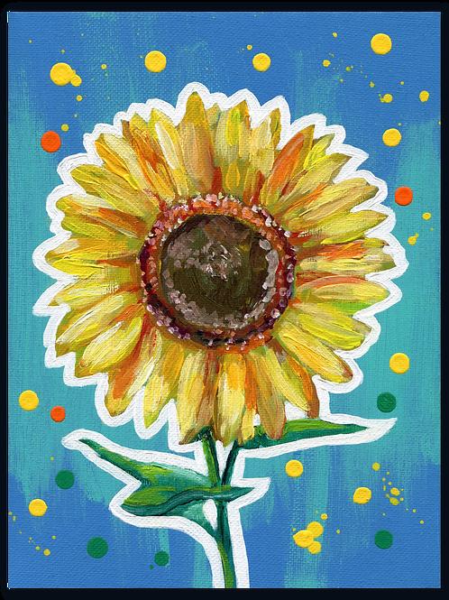 Schilderij Zonnebloem | ArtaFlora | FLOWER POWER collectie