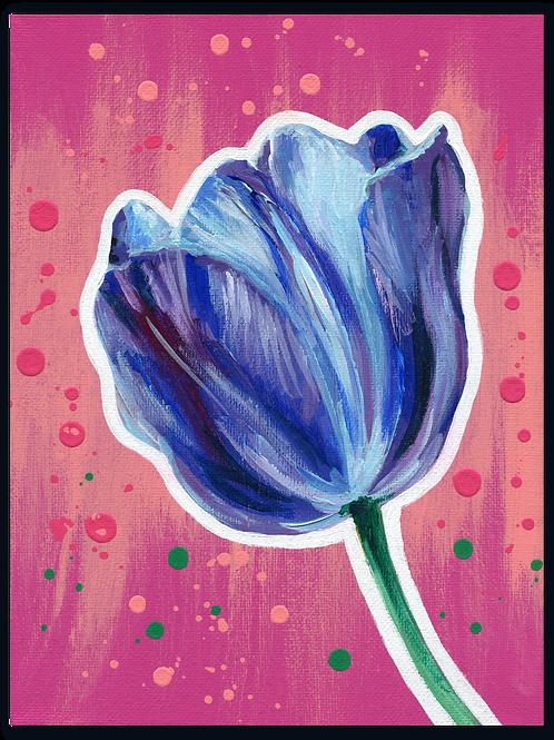 Schilderij Tulp blauw | ArtaFlora | FLOWER POWER collectie