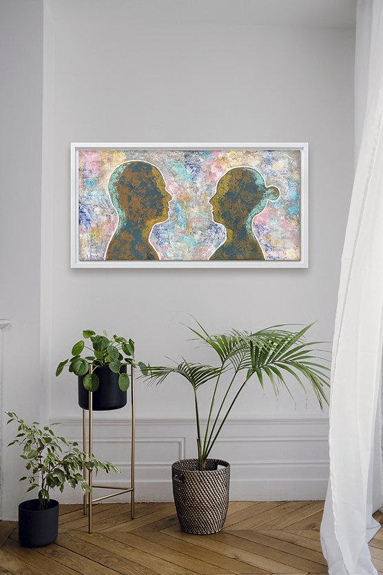 Silhouet Portret kunst in interieur trend