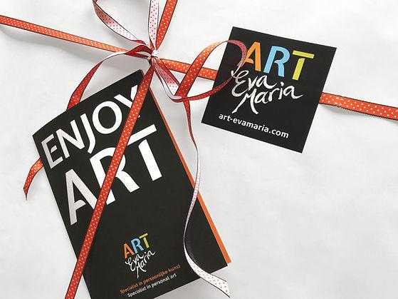 ART Eva Maria Kunst cadeaubon Love and Life Paint