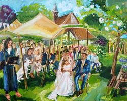 Live Paint Eva Maria kado trouwceremonie Gasselte
