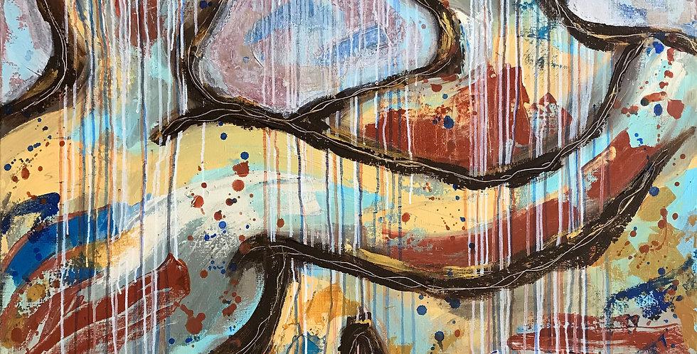Schilderij You color my life door Eva van den Hamsvoort