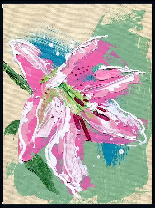 schilderij - van - Lelie - Lilium - Le - rêve - bloemkado