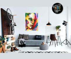 Multicolor dreaming face, SOLD Eva van den Hamsvoort