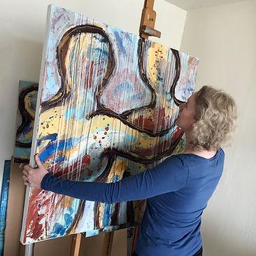 Ordinary People - You color my life 100x100cm Eva Maria portret.jpg