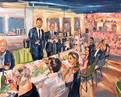 Live Paint Eva Maria bruiloft diner Apeldoorn