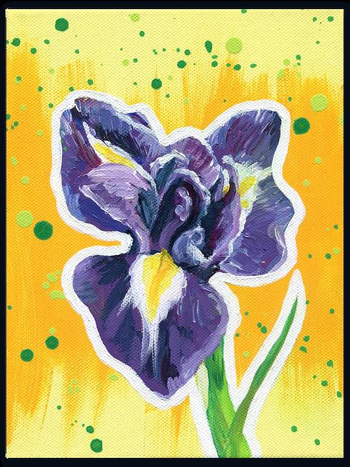 Schilderij Iris | ArtaFlora | FLOWER POWER collectie
