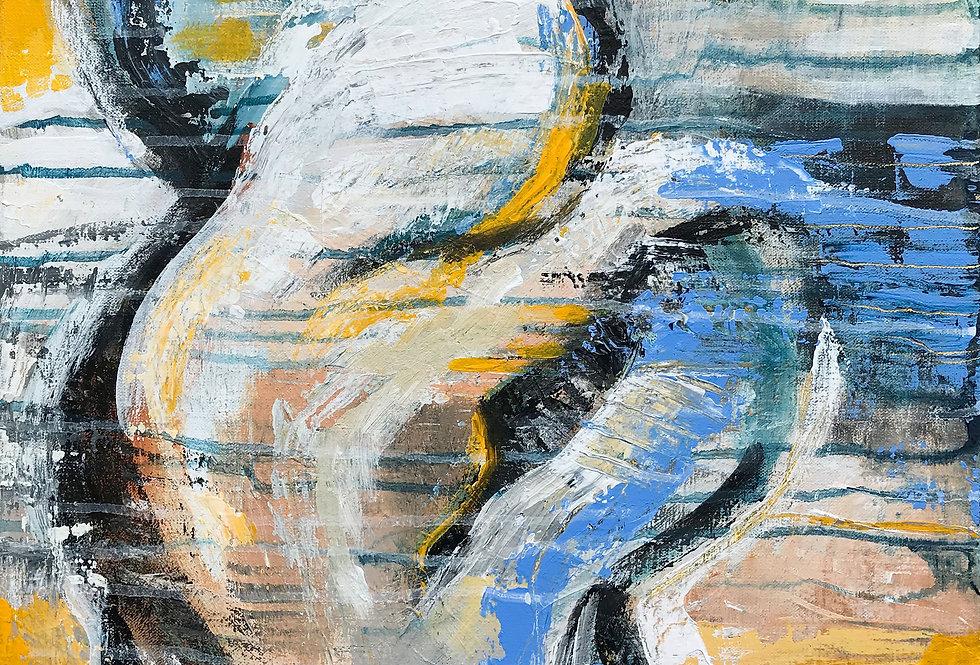 Schilderij Sunny exchange door Eva van den Hamsvoort