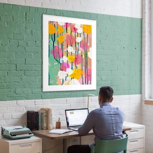 Business ART Eva Maria, art print op kantoor