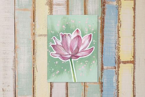 Lotus pretty pastel op hout.jpg