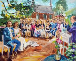 Live Paint Eva Maria schilderij huwelijksceremonie Oud Zuilen