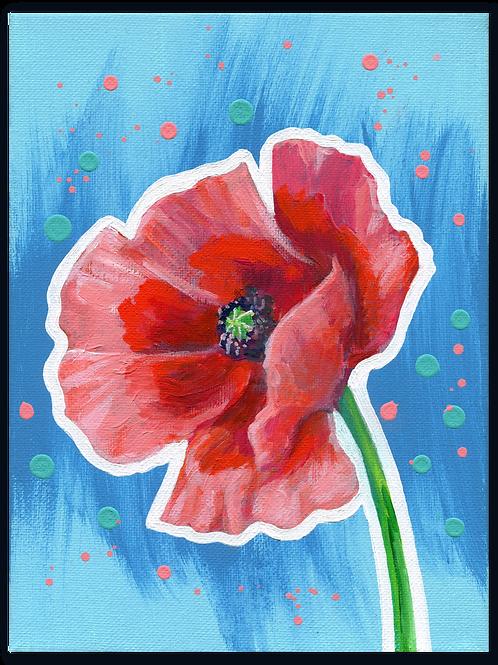 Schilderij Klaproos | ArtaFlora | FLOWER POWER collectie