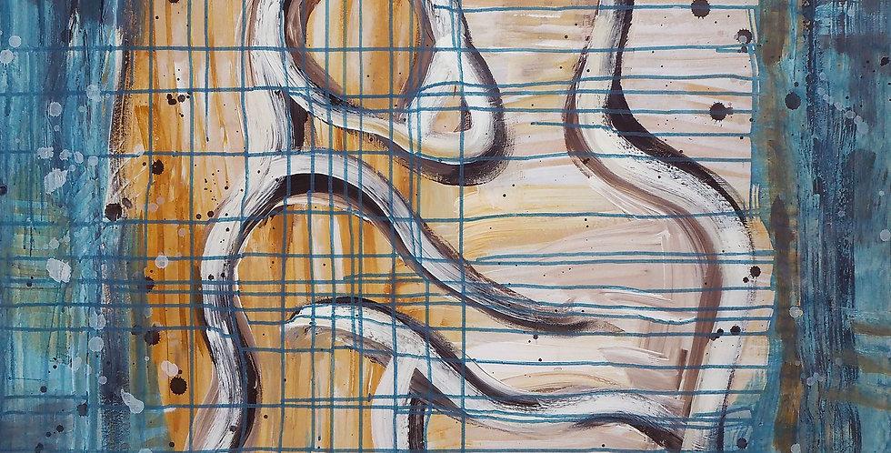 Schilderij Fusion door Eva van den Hamsvoort