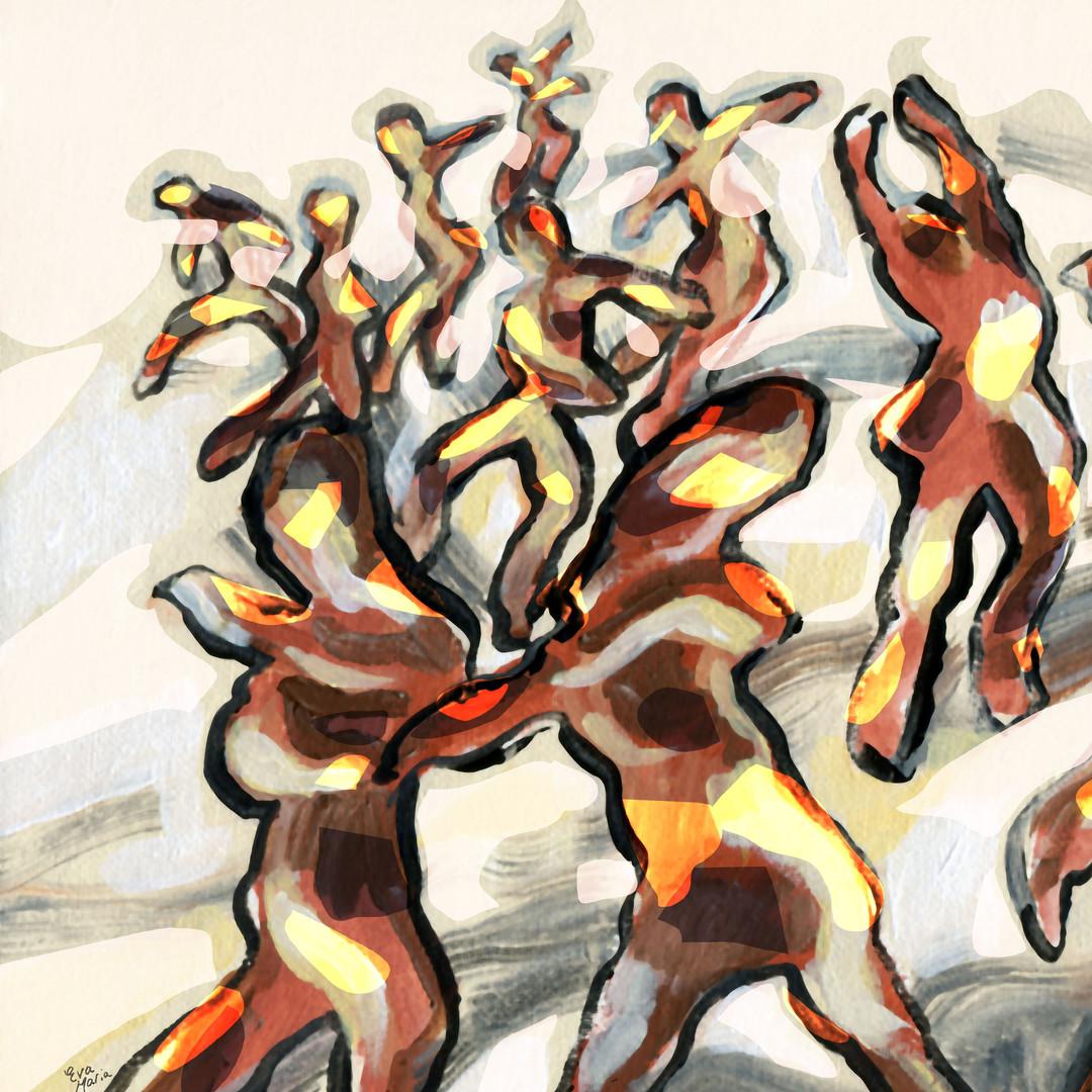 ART Eva Maria prints Glowing Dancers