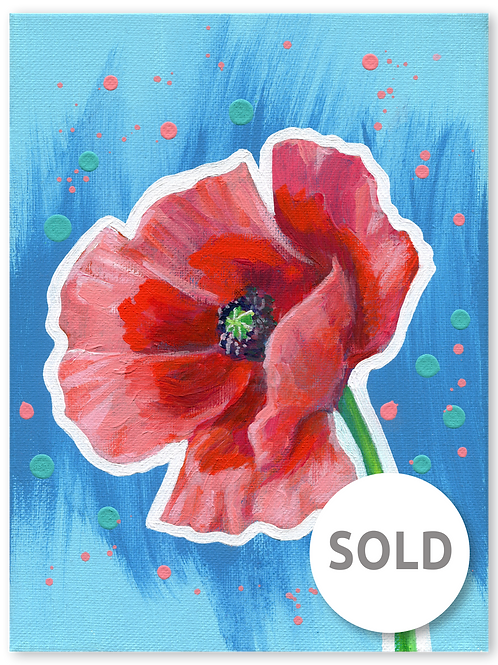 Schilderij Klaproos | ArtaFlora | FLOWER POWER collectie SOLD