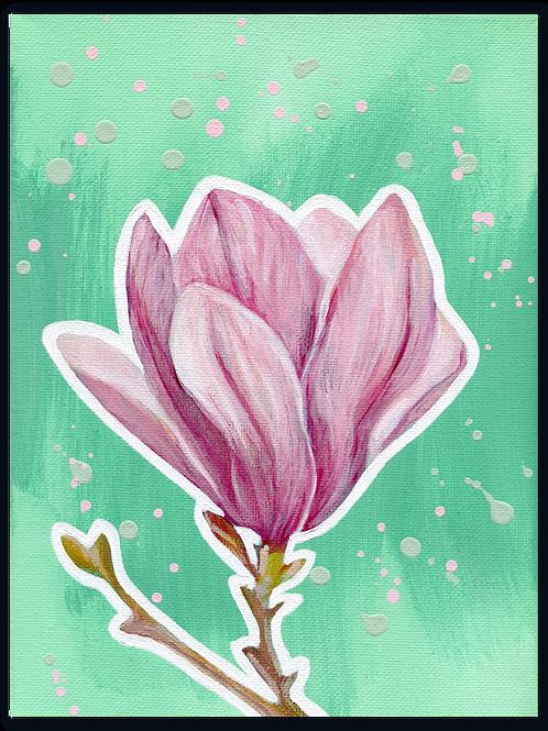 Schilderij Magnolia | ArtaFlora | PRETTY PASTEL collectie
