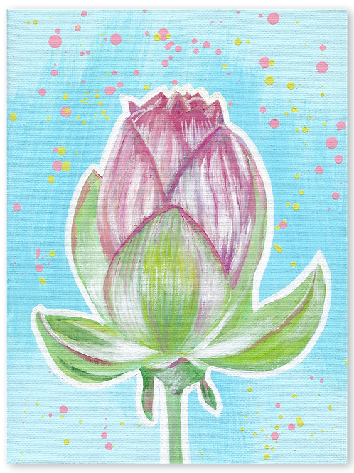 Schilderij Lotus | ArtaFlora | PRETTY PASTEL collectie