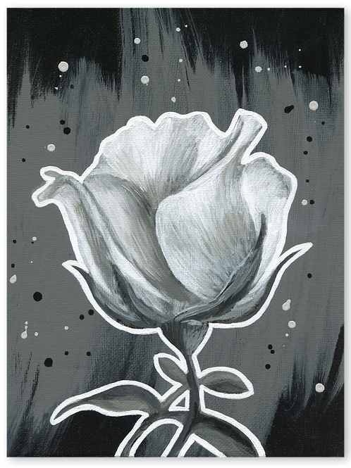 Schilderij Roos | ArtaFlora | NIGHT & DAY collectie