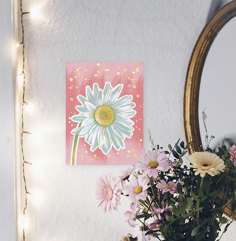 Schilderij van een madeliefje. Geef een bloemetje cadeau met ArtaFlora