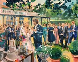 Live Paint Eva Maria trouwreceptie Voorburg
