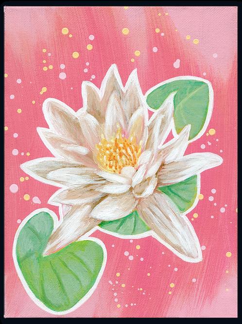 Schilderij Waterlelie wit | ArtaFlora | PRETTY PASTEL collectie