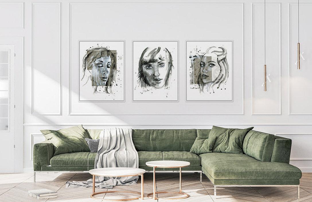 Portret inspiratie in interieur Silent p
