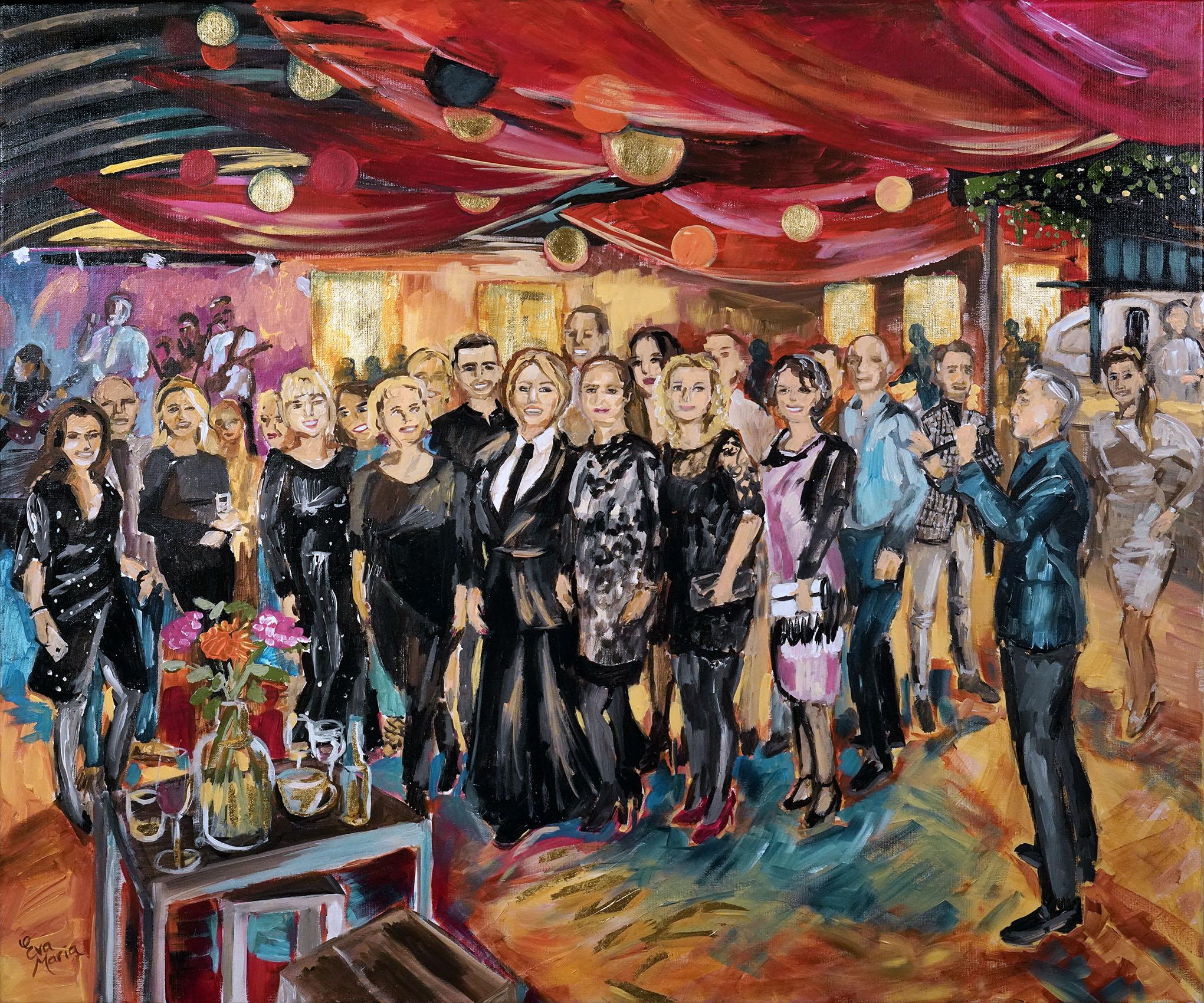 Live Paint Eva Maria afscheidsfeest Berkel en Rodenrijs