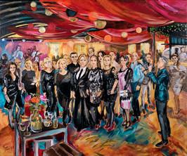 Business ART Eva Maria, schilderij van afscheid directeur