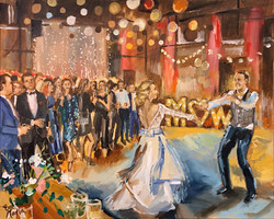 Live Paint Eva Maria trouwfeest Amsterdam