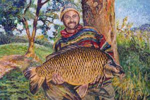 Portret van een visser