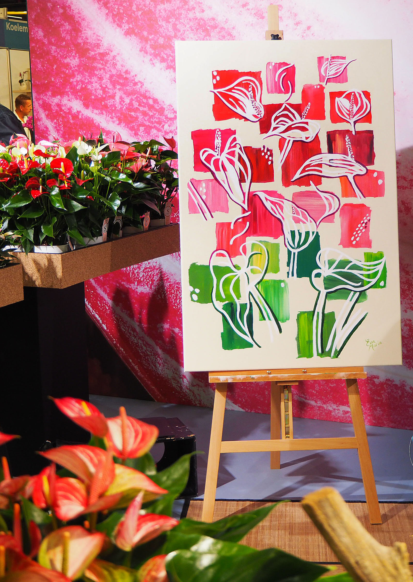 Live Paint Eva Maria beurs Royal Flora Holland Aalsmeer