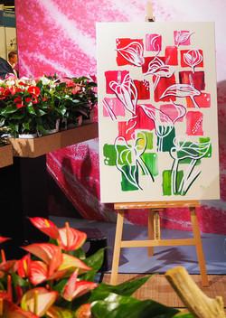 Live Paint Eva Maria beurs Royal Flora Holland Aalsmeer