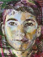 Portret in opdracht, schilderij van een jongen