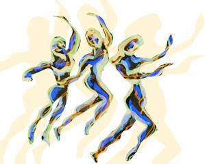 Tribal dance B, SOLD Eva van den Hamsvoort