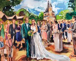 Live Paint Eva Maria huwelijksgeschenk Wijk bij Duurstede
