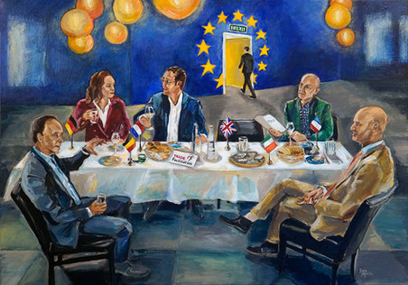 Business ART Eva Maria, schilderij van zakelijk team Trade Facilitation