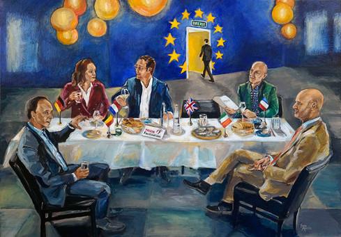 Business ART Eva Maria, schilderij van zakelijk team Trade Facilitation