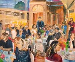 Live Paint Eva Maria cadeau huwelijksdiner Den Haag