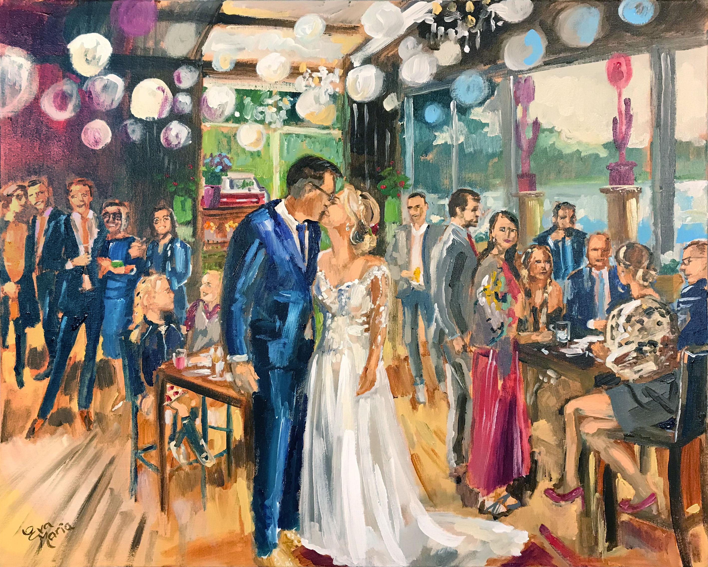 Live Paint Eva Maria bruiloft Ewijk
