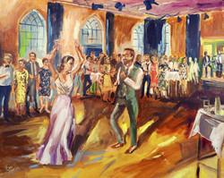 Live Paint Eva Maria origineel trouwcadeau huwelijksfeest Austerlitz