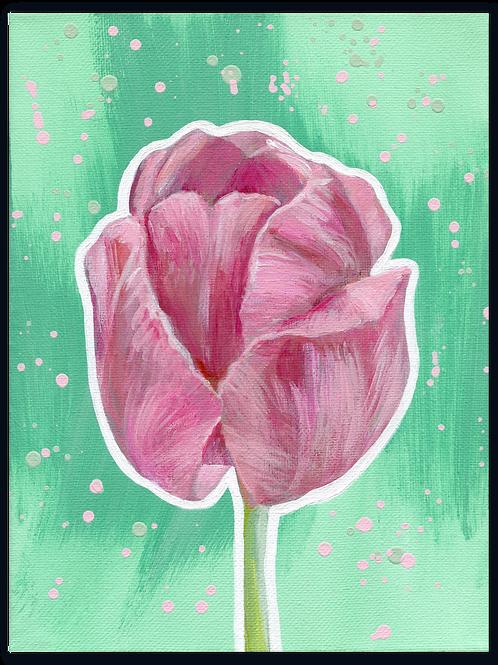 Schilderij Tulp | ArtaFlora | PRETTY PASTEL collectie