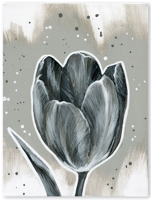Schilderij Tulp | ArtaFlora | NIGHT & DAY collectie