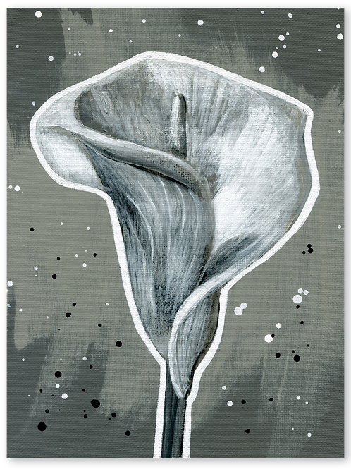 Schilderij Calla | ArtaFlora | NIGHT & DAY collectie